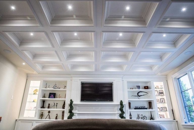 living room ceiling shown off in photograph