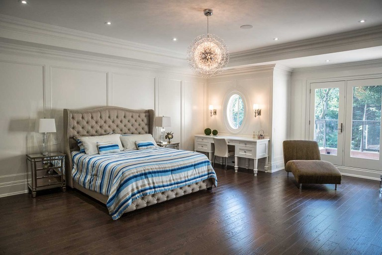 master bedroom picture captured by real estate photographer